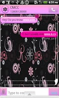 Screenshot of GO SMS THEME/PinkDaisy4U
