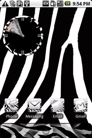 Zebra Print Theme