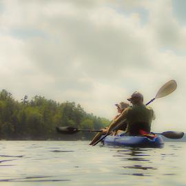 Kayaking by Nancy Merolle - Transportation Boats ( kayaking )