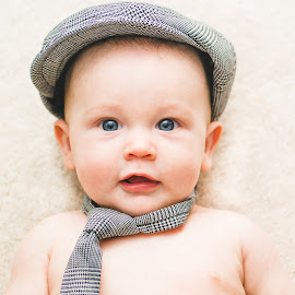 Business Baby by Jess Anderson - Babies & Children Babies ( baby portrait, nx30, 2014, familyphotography, mchenryphotography.com, imagelogger, baby boy, portrait, photography, hat, family, october, baby, jessica anderson, ditchthedslr )