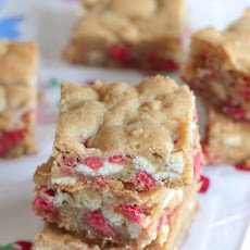 Cherry and Cream Chocolate Chip Cookie Bars