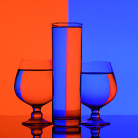 Loud colors.. by Rakesh Syal - Artistic Objects Glass ( blue, orange. color )