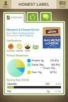 Screenshot of Honest Label
