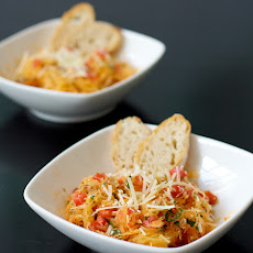 Spaghetti Squash with Tomatoes, Basil, and Parmesan