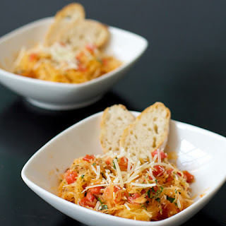 Spaghetti Squash With Tomatoes Basil And Parmesan Recipes