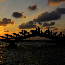 Lefkada by Ева Йорданова - Landscapes Sunsets & Sunrises ( water, sunset, sea, bridge, sun,  )