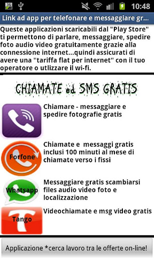 Chiamate sms video gratis