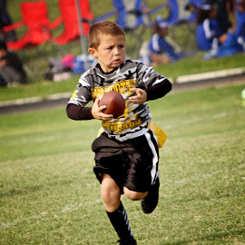 Flag Football Quarterback by Sarah Handrich - Sports & Fitness Other Sports ( flag, football, quarterback, action, kid )