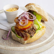 Meatloaf Burger With Harissa Mayo