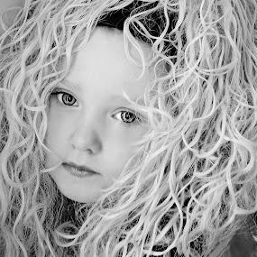 Head Tilt B & W by Cheryl Korotky - Black & White Portraits & People (  )