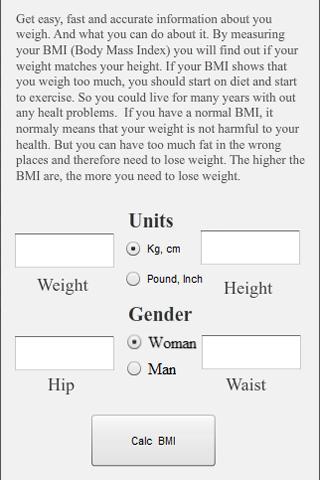 Body Mass Index - Test