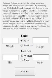 Body Mass Index - Test - screenshot