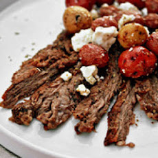 Grilled Herb Skirt Steak With Lemon-Feta Potatoes