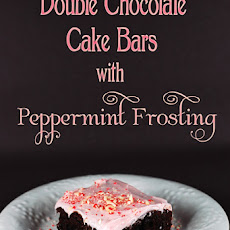 Double Chocolate Cake Bars with Peppermint Frosting