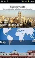 Screenshot of Argentina Travel Guide