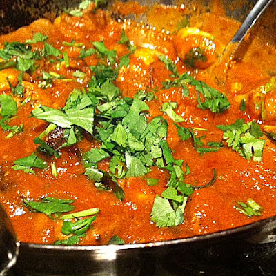 Duck Tikka And Mushroom Madras