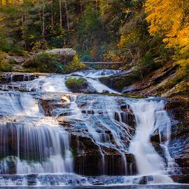 Panther Creek by Jennifer Tsang - Landscapes Waterscapes ( panther creek, waterscape, fall, waterfall, georgia )