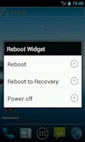 Screenshot of Reboot Widget