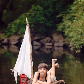 Huck Finn by Michelle Doty Erbach - Babies & Children Child Portraits ( stylized shoot, beautiful children, portraits, people, photography, huck finn )
