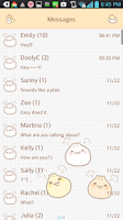 Screenshot of Yummy(Dumpling) go sms theme
