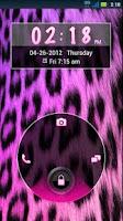 Screenshot of GO Locker Girly Cheetah Theme