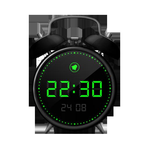 Alarm clock black style