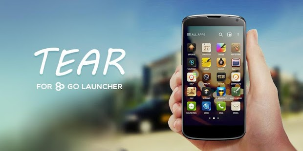 Tear GO Launcher Theme - screenshot