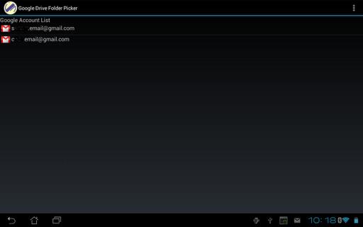 Google Drive Folder Picker