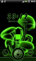 Screenshot of Green Neon GO Locker theme