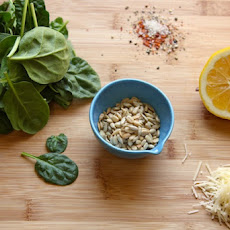 Spinach for lunch with this spicy, gluten-free pasta dish. (recipe below)
