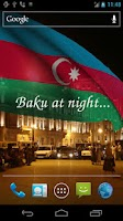 Screenshot of 3D Azerbaijan Flag LWP +