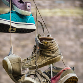 To hang by Arti Fakts - Artistic Objects Clothing & Accessories ( all star, hanging, shoes, converse, gand, belgium, artifakts, hang, hanged,  )