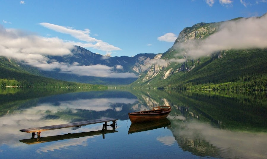 lake Bohinj by Jože Borišek - Landscapes Weather ( slovenia )