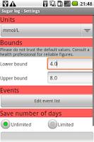 Screenshot of Sugar log