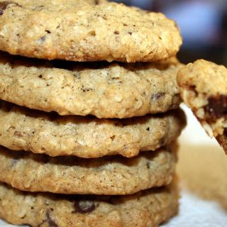 Peanut Butter and Oatmeal Chocolate Chip Cookies
