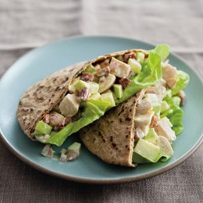 Curried Chicken-Apple Pitas
