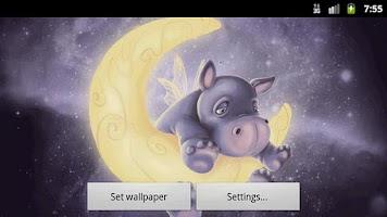 Screenshot of Sleepy Hippo Live Wallpaper Fr