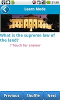 Screenshot of US Civics (Citizen) Test