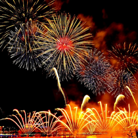 Firework burst by Alegna Nehc - News & Events Entertainment ( firework, event, fireworks, light, city )