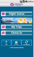 Screenshot of Hawaiian Airlines
