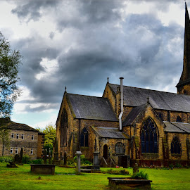 full view of church and graveyard by Nic Scott - Buildings & Architecture Places of Worship ( church, graves, place of worship, graveyard,  )