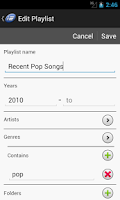 Screenshot of Playlist Designer