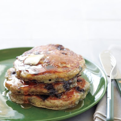 Blueberry-Flax Buttermilk Pancakes