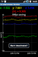 Screenshot of Accelerometer Monitor