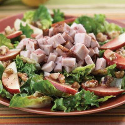 Pear & Walnut Salad With Turkey