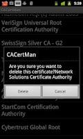 Screenshot of CACertMan