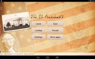 Screenshot of U.S. Presidents