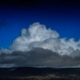Esja in Icland by Ólafur Ingi Ólafsson - Landscapes Cloud Formations ( reykjavík, iceland, sky, mountain, blue, heaven, white, blue heaven, cloud, esja )