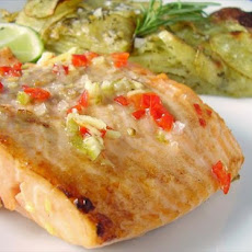 Lime and Ginger Grilled Salmon