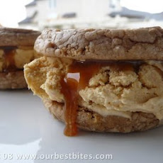 Pumpkin Spice Ice Cream Sandwiches